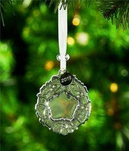 Waterford Crystal 2018 Mini Wreath Christmas Ornament New in Box 40031778 image 2