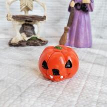 Witch Fairy Garden Kit, Miniature Halloween Village Set, Skeleton black cat owl image 9