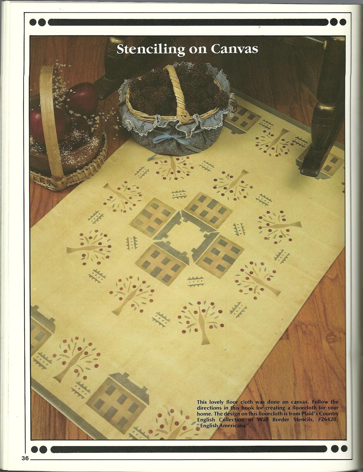 Complete Stenciler Book Plaid 8132 Jane Gauss Home Decor Crafts Stenciling
