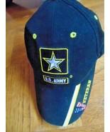 U.S. Army Veterans Cap Eagle Crest Black & Yellow-Flag Colors 1 Size Fit... - $4.99