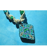 Handmade Natural Hemp Necklace with Beautiful Polymer Clay Lizard Pendant - $17.00