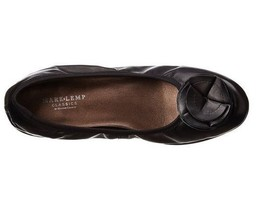 Mark Lemp Walking Cradles Melissa Ballet Flat Black Nappa Leather 6 M NIB - $30.66