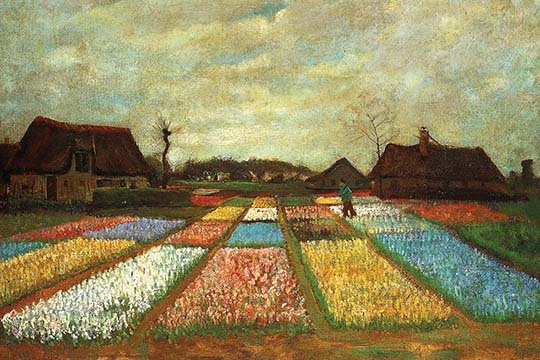 Primary image for Flower Beds of Holland by Vincent van Gogh - Art Print