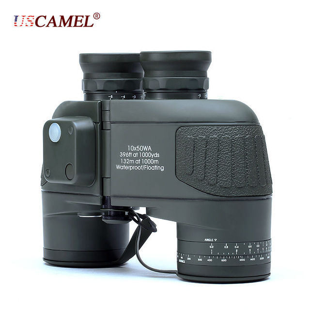 USCAMEL 10x50 Military Waterproof HD Binoculars with Rangefinder Compass Green, used for sale  USA