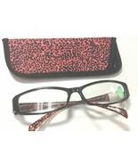 Foster Grant Sheila Purple & Black Leopard Print Reading Glasses with Case - $7.00