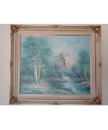 """French Provincial Oil Painting on Canvas Signed Framed 29"""" x 25"""" Mountai... - $799.99"""