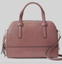 New Kate Spade small Felix Riverside Street Exotic Leather handbag Dusty Peony - $119.00