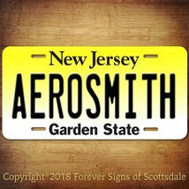 Aerosmith Rock and Roll Band New Jersey State Aluminum Vanity License Plate - $12.82