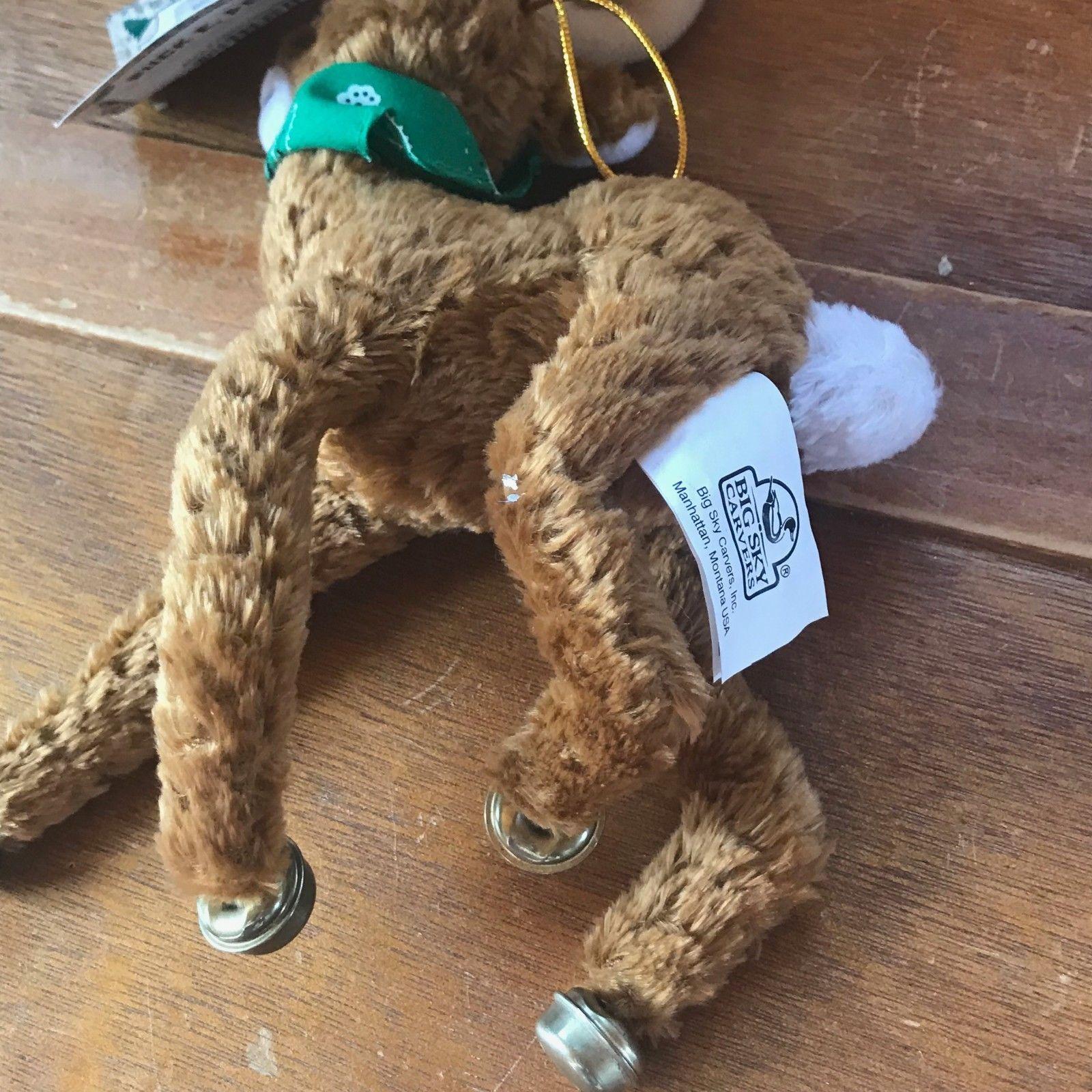 Big Sky Carvers BUCK E. Deer Brown Jingle Bell Plush Stuffed Animal Christmas Tr