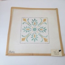 "Floral Tile Motif Needlepoint Canvas Bette Rae Originals 13.5"" x 13.5"" 1... - $29.02"