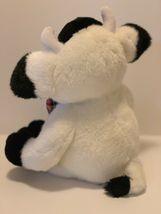 "Commonwealth Plush Cow Black White Stuffed Animal Plaid Bow Tie Soft 14"" Toy image 3"