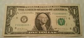 star note 1 dollar 2017 Atlanta Mint F 03380009* Triple 000 - $5.00