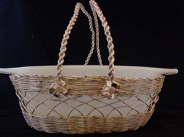 Anchor Hocking Fire King Milk Glass Swirl Casserole Dish with Carrier - $4.88