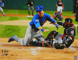 BEN ZOBRIST Signed Cubs 2016 World Series Home Plate Collision 16x20 Pho... - $177.21