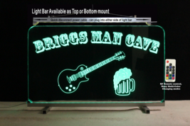 Custom Lighted Bar Sign with Guitar and Beer Mug,  Man Cave Sign - $96.03+