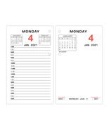 """NEW AT-A-GLANCE Calendar Refill, 3-1/2"""" x 6"""", January To December 2021, ... - $15.10"""