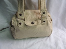 Marc Jacobs White Leather Handbag Shoulder Silver Toned Hardware - $99.99