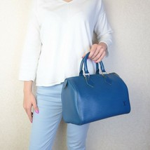 Louis Vuitton Vintage Blue Epi  Speedy 25 Bag - $459.08