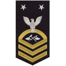 NAVY E9 MALE RATING BADGE: AVIATION SUPPORT EQUIPMENT TECH(AS) - SEAWORT... - $36.61
