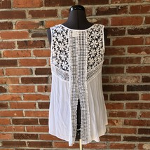 Japna White Sleeveless Crochet Top Tunic Boho Festival Sz. S - $18.00