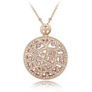 Primary image for SHDEDE High Quality Crystal from Swarovski Vintage Necklaces Pendants Big Round