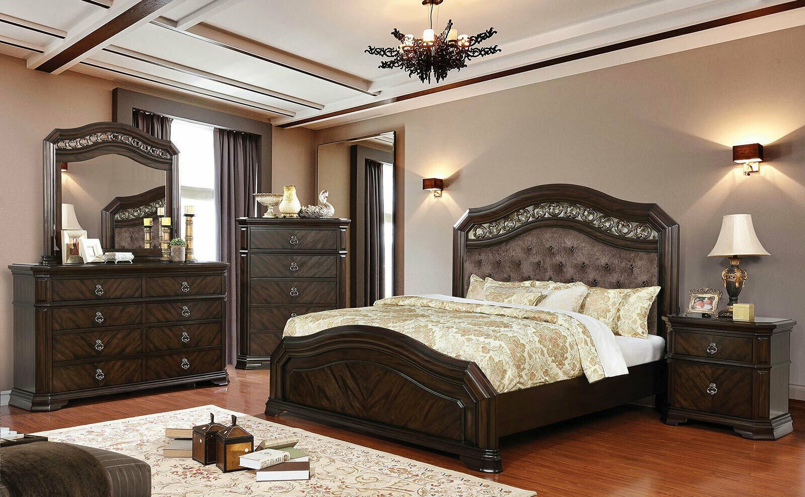 New traditional espresso brown bedroom furniture olympia - Espresso brown bedroom furniture ...