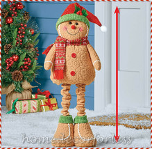 Holiday Gingerbread Statue Adjustable Legs Porch Patio Greeter Christmas... - $24.99