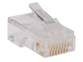 TRIPP LITE 100 Pack RJ45 Plugs Round Solid Stranded Conductor 4-Pair Cat... - $33.79