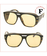 TOM FORD FENDER Brown Havana Yellow Wrap 0799 Sunglasses FT0799 Unisex A... - $277.20