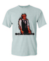 Scanners T-shirt retro horror 80's slasher movie 100% cotton graphic tan tee image 2