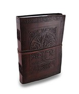 Leather Journal Diary Embossed Large Tree Notebook for Writing Leather D... - $29.89