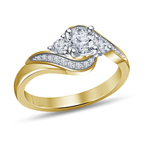 Womens Diamond Engagement Ring 14k Yellow Gold Finish 925 Solid Sterling Silver - $68.99