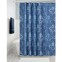 "InterDesign Trellis Damask Fabric Shower Curtain -72"" x 72""; Blue - $18.67"