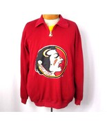 Starter Florida State University Pullover Large Half-Zip Jacket FSU Long... - $18.49