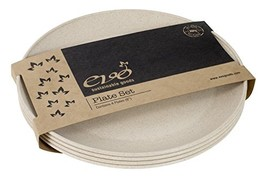 """EVO Sustainable Goods 8"""" Plate, Set of Four, White - $25.67"""