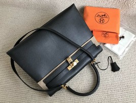 100% Authentic HERMES Black KELLY BAG GHW image 9