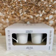 Mikasa CIARA Bone China White Mugs Set Of 4 Free Shipping - $54.45