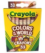 Crayola Colors Of The World Crayons, Assorted Colors, Nontoxic (32 Count) - $12.79