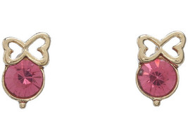BETSEY JOHNSON PINKALICIOUS BOW STUD EARRINGS NWT - $19.35