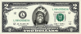 NOTORIOUS BIG on REAL Two Dollar Bill Cash Money Bank Note Currency Dine... - $12.22