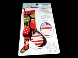 Needle creations stitch Sew craft Ornament embroidery stocking panel Christmas - $10.88