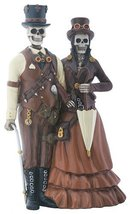 YTC Skeleton Bones Steampunk Outfitted Couple Decorative Figurine - $25.69