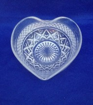 Imperial Cape Cod heart shaped candy dish clear crystal - $11.87