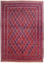 Baluch Splendid Handmade 7' X 9' Red Blue Oriental Kindred Rug - $1,371.15