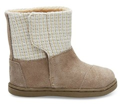 Toms Girls' Nepal Boots Taupe Suede With Metallic Wool , Tiny , US 2 - $39.59