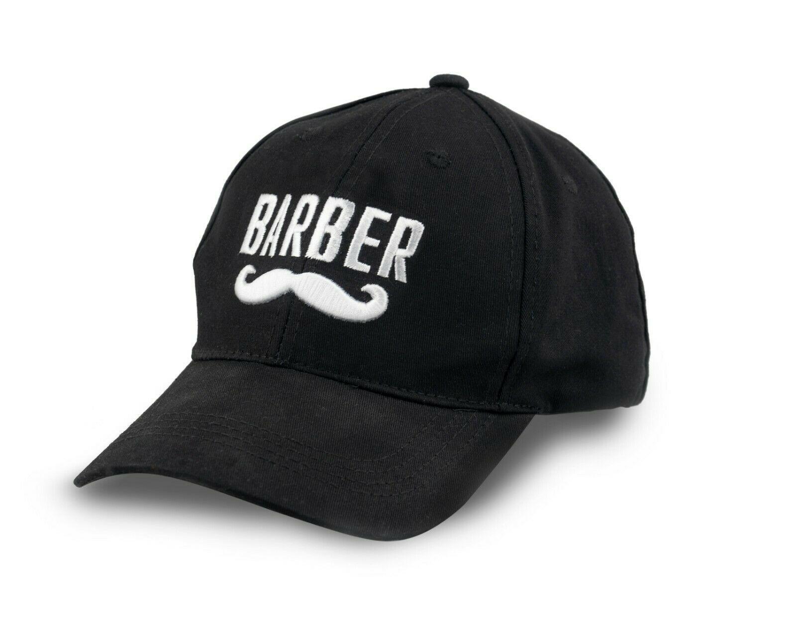 Barber Mustache Logo Embroidered Flexfit Baseball Hat