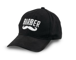 Barber Mustache Logo Embroidered Flexfit Baseball Hat - $12.16