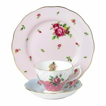 Royal Albert Vintage Mix Teacup Saucer Plate Pink Blue 40034973 New - $133.80