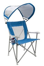 GCI Outdoor Waterside SunShade Folding Captain's Beach Chair with Adjust... - $108.32