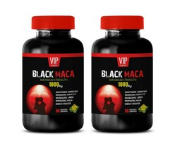 boost your mood - BLACK MACA - energy booster natural root 2 BOTTLE - $28.01